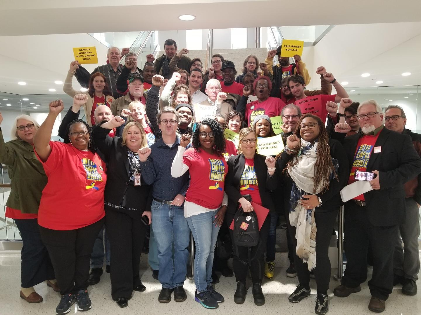UCW members rally for living wages and a voice at Lobby Day 2019.